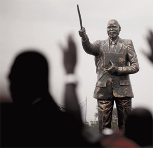Revolutionary: the statue of John Garang in Juba is a reminder of Southern Sudan's long struggle for independence