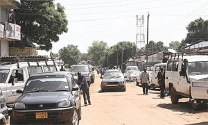 SUVs with Government of South Sudan (GOSS) plates in Juba's streets – the majority of the other cars are either UN or CD.