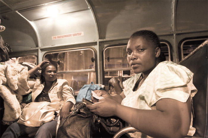 Photo of Zimbabwean traders travelling from Johannesburg.