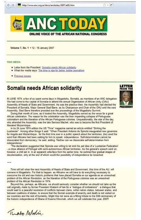 Mbeki ANC letter