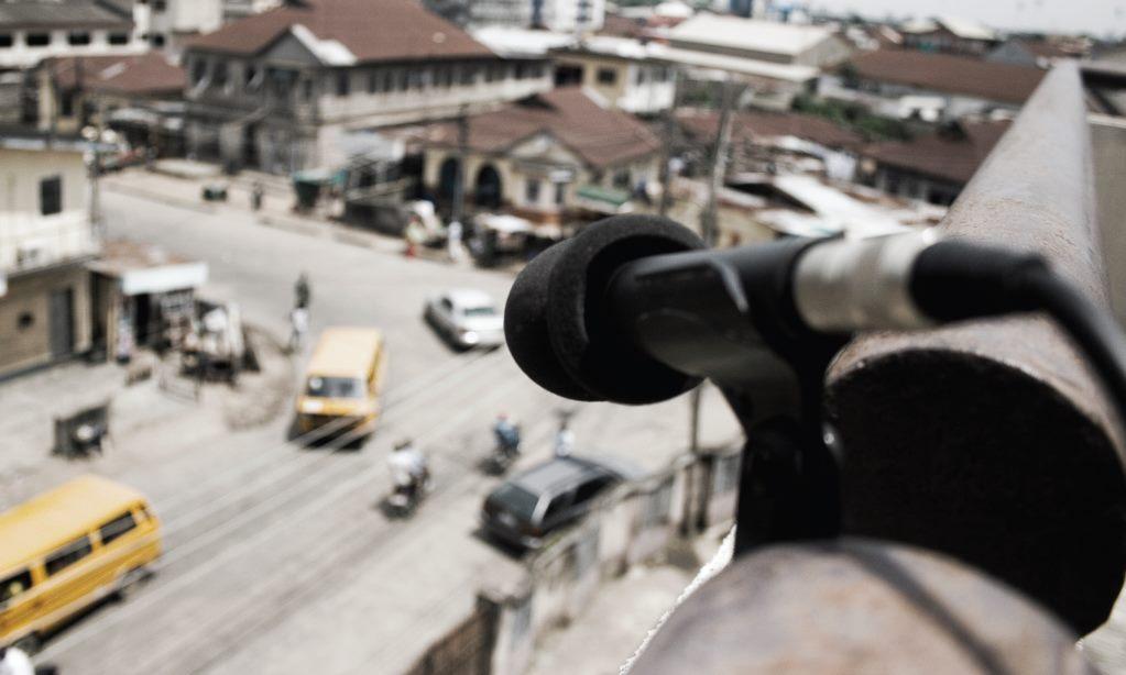 Emeka Ogboh rooftop mic